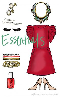 ABD: Styled Goes to a Holiday Soiree! Holiday Party Essentials // custom illustration // fashion illustration // party style