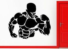 Wall Stickers Vinyl Decal Bodybuilding Fitness Bodybuilder Crossfit (z2349)