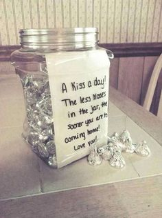 A kiss a day to count down the days