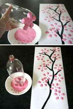DIY decoration: Magical ideas to make your own- DIY-Deko: Zauberhafte Ideen zum Selbermachen Great decoration does not necessarily have to be expensive. We& show you how to make your home beautiful with simple means … - Kids Crafts, Home Crafts, Easy Crafts, Diy And Crafts, Creative Crafts, Felt Crafts, Easy Diy, Paper Crafts, Wine Bottle Crafts