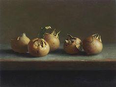 Henk helmantel painting - Still life of medlars (Dutch: mispels) Fruit Painting, Painting On Wood, Still Life Artists, Dutch Golden Age, Hyperrealism, Painting Still Life, Chiaroscuro, Vanitas, Painting Lessons