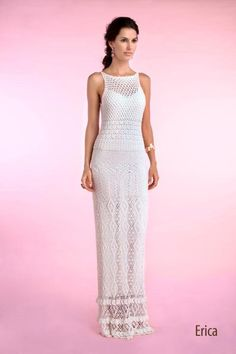 Wedding dress in crochet | No pattern