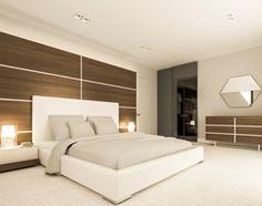 Dom jednorodzinny w Grodzisku Mazowieckim - Duża sypialnia małżeńska z garderobą, styl nowoczesny - zdjęcie od Casa Marvell Interior Design & Interior Boutique