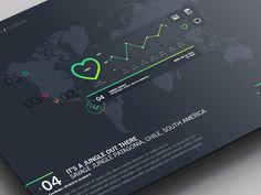 Weather Dashboard // Global Outlook UI/UX by Jonathan Quintin, via Behance Web Dashboard, Ui Web, Dashboard Design, Digital Dashboard, Digital Web, Web Design, Flat Design, Graphic Design, Gui Interface