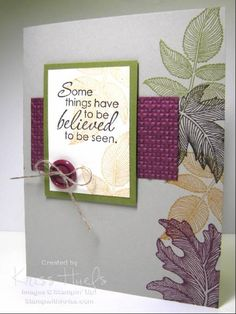 SC302, SUO, Autumn Splendor and Just Believe by krissiestamps - Cards and Paper Crafts at Splitcoaststampers