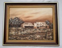 SKILLFUL Ca 1980's BRUNAILLE MONOCHROME OIL ON CANVAS PAINTING - SIGNED & FRAMED