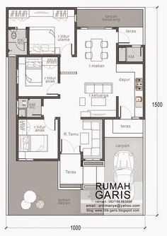 Modern House Designs for 150 Sqm Three Bedroom House Design In 150 Sq M Lot Eplans Porch House Plans, Bungalow House Plans, Dream House Plans, Small House Plans, House Floor Plans, Home Design Floor Plans, Home Room Design, Design Kitchen, Minimalist House Design