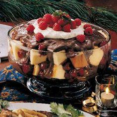 Raspberry Chocolate Trifle Recipe   Taste of Home Recipes
