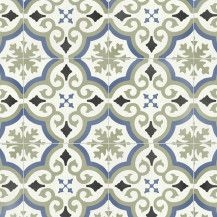 Moroccan decor of the Spanish tile Spanish tile & Tiled floor, tile texture, Moroccan tiles, tile entrance, Tile Effect Vinyl Flooring, White Vinyl Flooring, Cushioned Vinyl Flooring, Tiled Hallway, Hallway Flooring, Arabesque, Mediterranean Tile, Sol Pvc, Spanish Tile