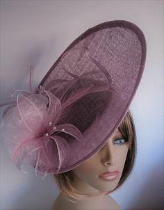 Dusky Pink Fascinator Wedding Mother Of The Bride Ascot Races Light Hat Hatinator Headpiece