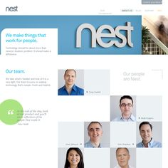 Nest site is perfect clean minimalism with a wonderful palette.