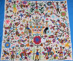 Otomi embroidery from Hidalgo Mexico. Would love above fireplace