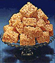Marshmellow fluff rice crispy treats.. Vegetarian rice crispy treats!