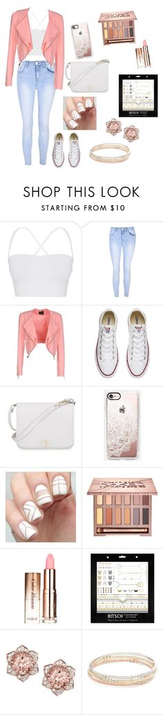 """""""Festival look#2"""" by wendyfashion ❤ liked on Polyvore featuring Theory, Glamorous, Pinko, Converse, Furla, Casetify, Urban Decay, Kitsch and Kate Spade"""