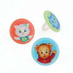 Daniel Tiger Cupcake Rings
