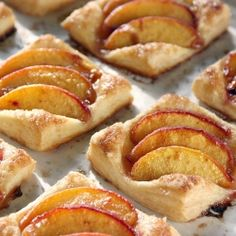 Puff Pastry Peach Tartlets #foodgawker