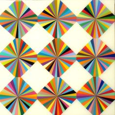 MARK OTTENS, UNTITLED (Argyle), Acrylic on Panel, 6 x 6 x 2