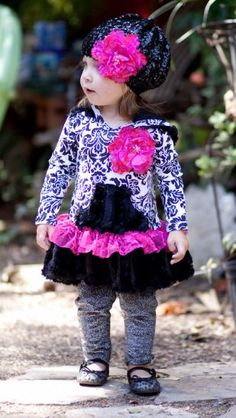 """""""Sugar and Spice"""" Tunic Hoodie with Leggings by Giggle Moon"""