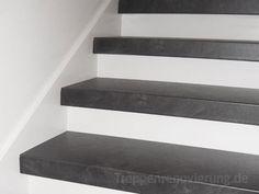 Beispiele zur Treppenrenovierung. Einfach alte Treppen neu belegt, mit Laminat, Vinyl oder Echtholz. - Treppenrenovierung.de