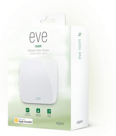 With Eve Room, Eve senses indoor air quality, temperature, and humidity. Learn how to feel better in your home, powered by a sophisticated sensor analyzing volatile organic compounds (VOC).