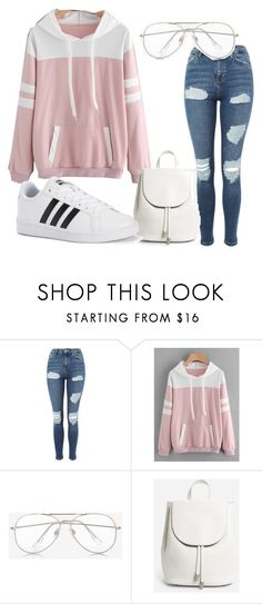 """outfit #2"" by armyexo-ldreamer95 ❤ liked on Polyvore featuring Topshop, Express, Everlane and adidas"