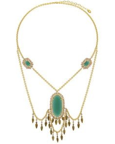 Know-My-Statement Quartz Necklace (Emerald) #necklace #necklaces #statementnecklace #statementnecklaces #jewelry #gold #goldplated