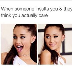 The sassiest Ariana Grande memes, jokes and pictures for everyday situations. Stupid Funny Memes, Funny Relatable Memes, Funny Facts, Funny Stuff, Random Stuff, Funny Things, Funny Moments, Girly Things, Funny Cute