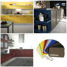 La vita non è solo in bianco e nero: perché dovrebbe esserlo l'ambiente centrale della casa? Lasciati ispirare dalla nostra gamma di colori! #colore in #cucina #allegria #arredamento #lifestyle  Seguici su Pinterest » pinterest.com/cucinesse/