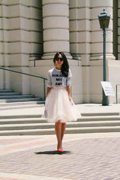Heading to brunch|  Rita and Phill specializes in custom skirts.  Follow us for more inspiration and ideas on the latest skirt fashion!  https://www.pinterest.com/ritaandphill/tulle-skirts/