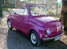 Fiat 500... And it's PURPLE!!!