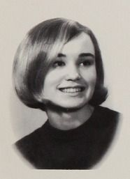 Oscar and Emmy-Award-winning Actress Jessica Lange in her 1967 yearbook at Cloquet high school in Cloquet, Minnesota