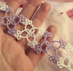 Pretty ~ Fairytale Bridal Lace Cuff in Tatting Eleanor by TataniaRosa