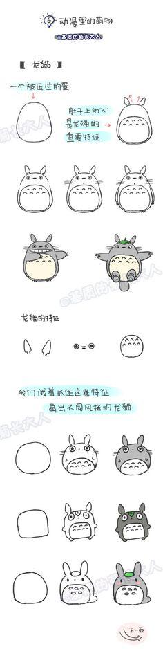 Dibujar a Totoro paso a paso
