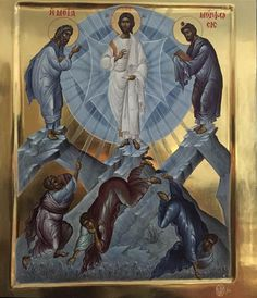 The Transfiguration of Christ, Athonite painted icon, 20th century