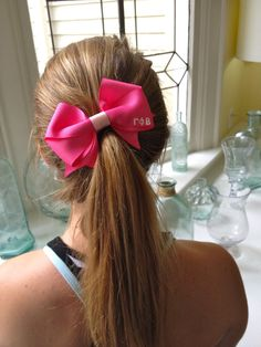 Hair Bow with Letters..neeed