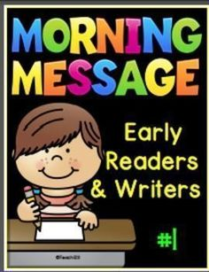 Early readers and writers morning messages: This product has helped my ESE students to become quite proficient at editing their writing. paid