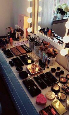 My Dream Beauty Room Planner For 2018 And Makeup Collection Makeup Storage, Makeup Organization, Makeup Drawer, Storage Organization, Storage Ideas, Bedroom Makeup Vanity, Makeup Vanities, Hanging Makeup Organizer, Makeup Beauty Room