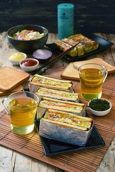 Dorian cuisine.com Mais pourquoi est-ce que je vous raconte ça... : Sandwich au chou coréen... pour un pique-nique entre copains... à l'intérieur !