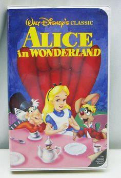 Alice in Wonderland VHS Disney Classic Movie Video Clamshell Free Shipping 012257036039 | eBay