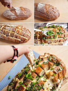 Se ve delicioso ¿no crees? #recetas ##comida #Tozapping.com #Pan #relleno de #queso descubre más aquí: