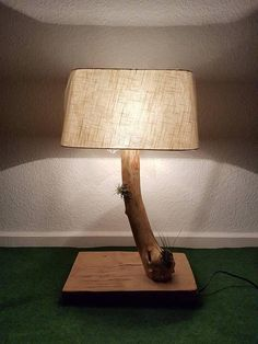 Decorative Lamps, Projects To Try, Table Lamp, Etsy Shop, Vintage, Lighting, Interior, Home Decor, Wood Art