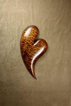Heart Wood Carving, Gift by Gary Burns the treewiz Handmade...