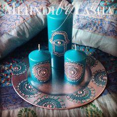 Hand of Hamsa deep turquoise henna inspired by Mehandibytasha, £35.00