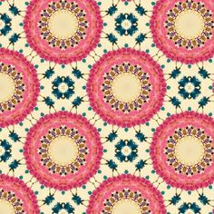 kalei pink flower fabric by kirpa on Spoonflower - custom fabric