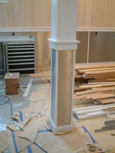 Cool paneling and how they wrapped the support column.