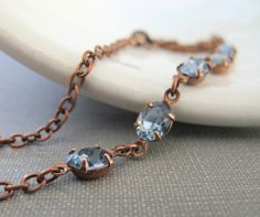Hey, I found this really awesome Etsy listing at https://www.etsy.com/listing/178413320/rhinestone-necklace-blue-necklace