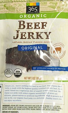 3oz Organic Beef Jerky Original by 365 Everyday Value (One Bag)