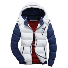 Men Jacket Warm cotton coat mens casual hooded jackets Handsome Outwear thicking Parka Plus size XXXL Fashion Coats