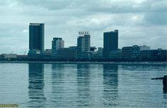 Vista da Baía de Luanda em 1970 a partir da ilha