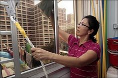 Singapore Maids Banned From Cleaning Outside Windows